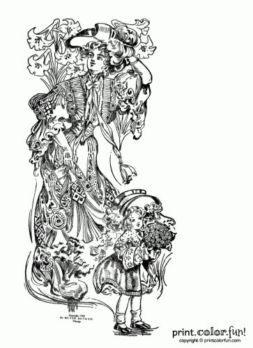 Easter Flowers Colouring Pages : 41 best coloring book pages images on pinterest