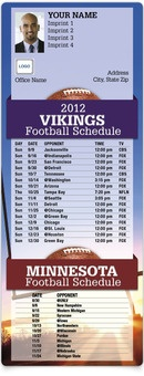 Football Schedule MagnetCard - Vikings & University of Minnesota