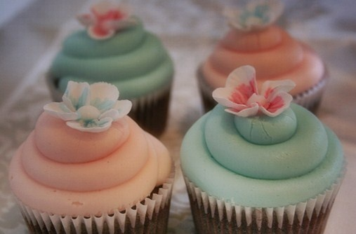 Teal And Peach Wedding Cupcakes April Peach And Mint