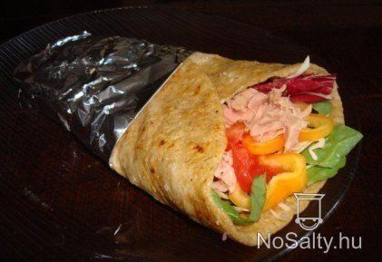 Zabpelyhes wrap recept