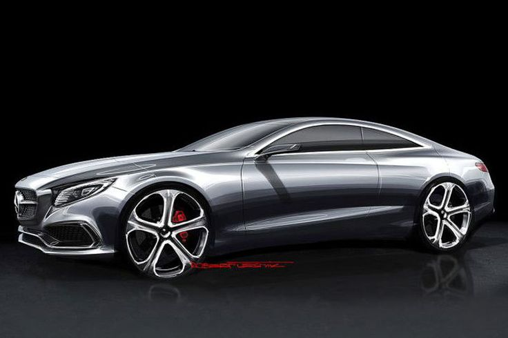 Mercedes-Benz S-Class Coupe Concept - Design Sketch
