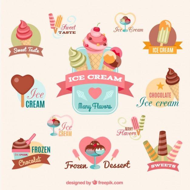 Free vector Colorful ice creams #15472