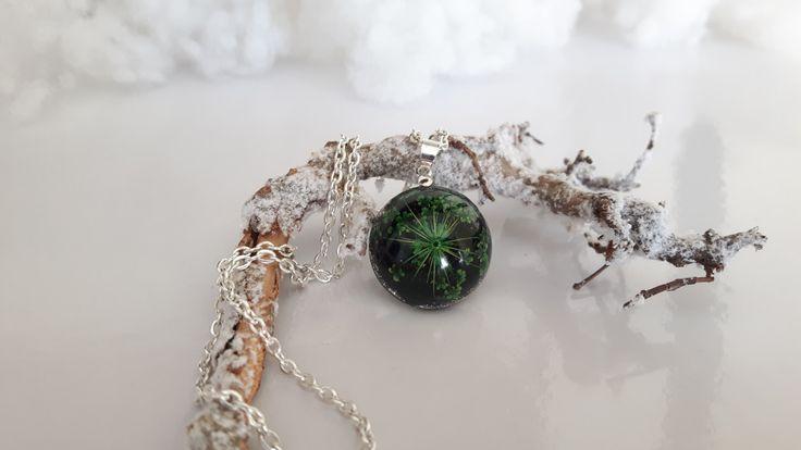 Collana natura - Collana fiore reale - collana terrario - collana resina - gioielli in resina - natura ispirato di ByMLjewellery su Etsy