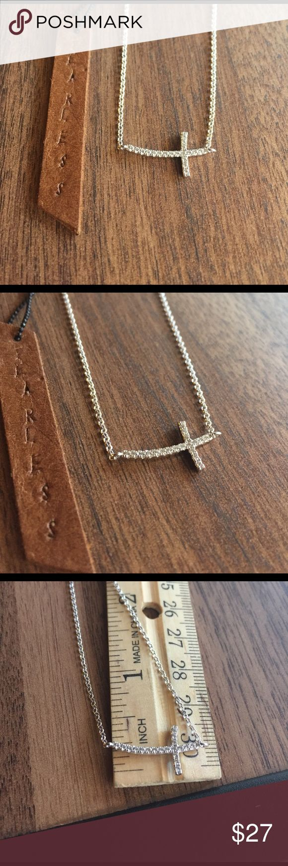 Sterling silver sideway cross 925 solid Sterling silver, shop with confidence wear your jewelry with distinction 16-17 inches long Jewelry Necklaces