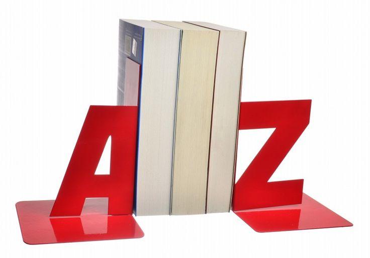 Decotown A Z Kırmızı Metal Kitap Tutucu ::