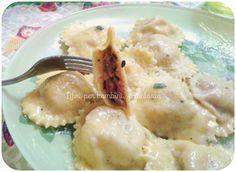 Ravioli mortadella, prosciutto cotto parmigiano e nocciole
