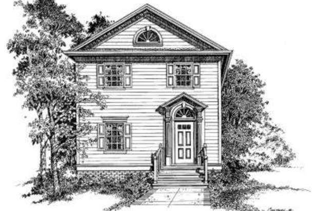 Colonial Front Elevation Designs : Colonial style house plan beds baths sq ft