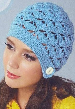 FAN STITCH BEANIE - RUSSIAN WITH GRAPHS