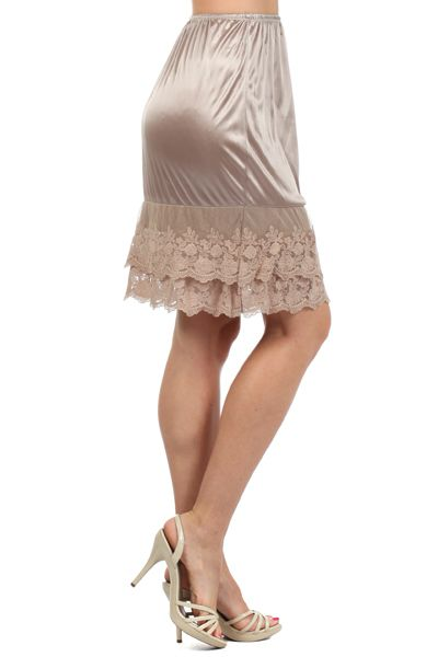 Ivory Lace Slips for those toooo short dresses!