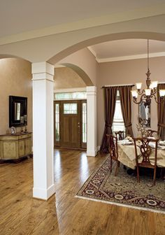 nice degree of arch and columns are proportionate. dining room arches with columns - Google Search