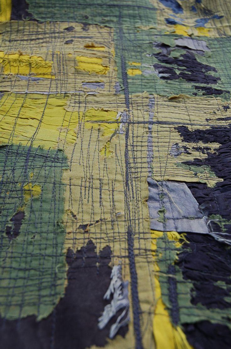 Teresa Searle 2015 Layered devore: linen and silk