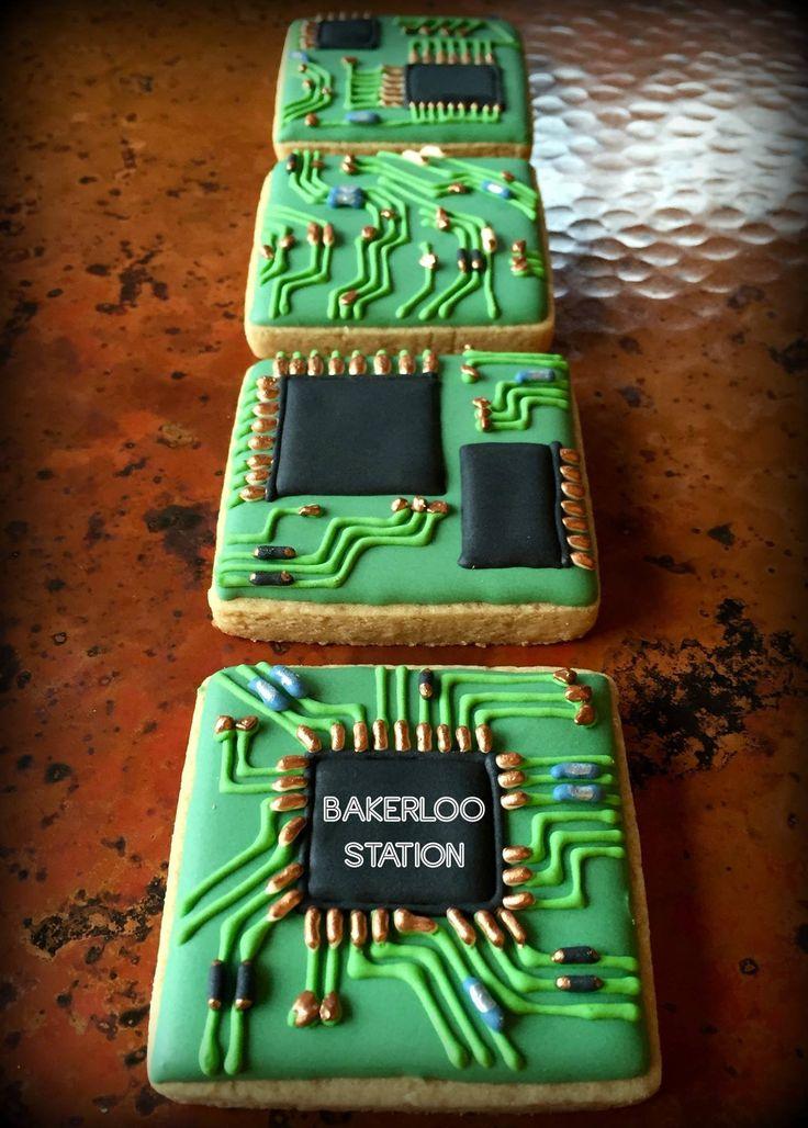 Circuit Board Computer Cookies | Bakerloo Station