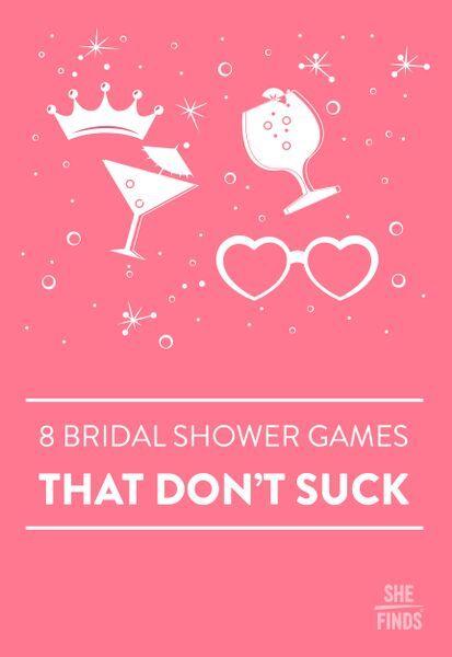 Bridal shower games that don't suck