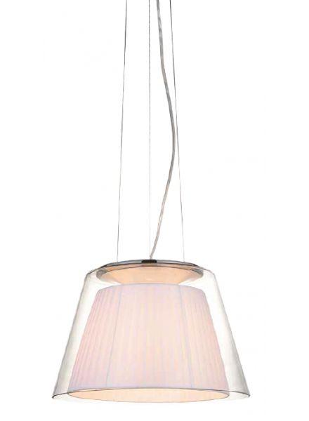 pendente em aço e vidro (para mesa roxa) 904