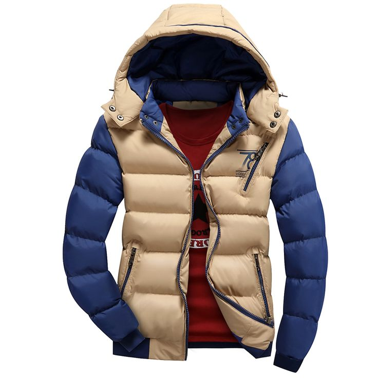 Find More Parkas Information about Winter Jacket Men 2015 New Fashion Patchwork Thick Warm Hooded Coat Man Outdoor Windproof Sport Cotton padded Down Jacket Sale,High Quality jacket wraps,China jacket flight Suppliers, Cheap jacket print from Eric's on Aliexpress.com