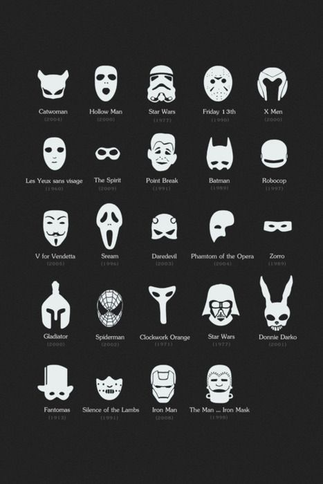 Máscaras famosas do cinema | Complexo Geek