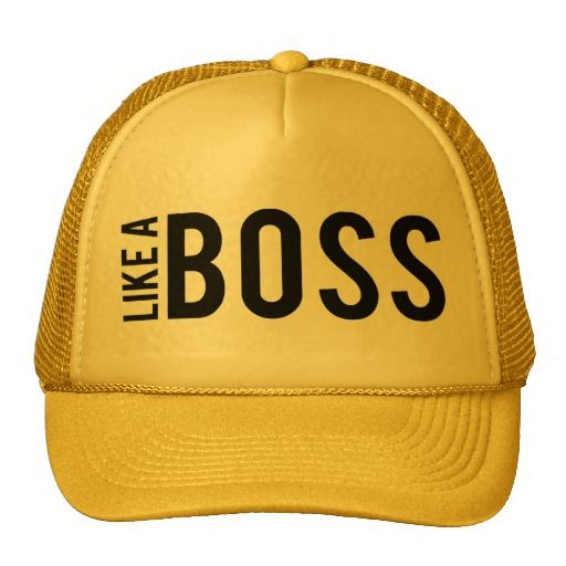 LIKE a BOSS Mesh Hats