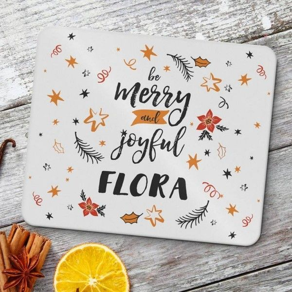 Chalk & Cheese Be Merry And Joyful Personalised Placemats ($38) ❤ liked on Polyvore featuring home, kitchen & dining and table linens