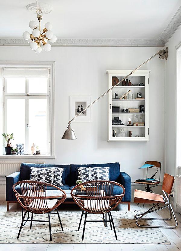 Nordique et vintage ce salon mixe les styles pour mieux recevoir