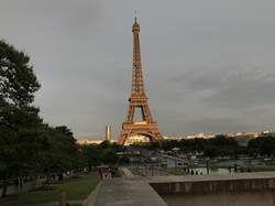 Der Eiffelturm am 2.6.17 vom Place de Trocadero aus fotografiert.
