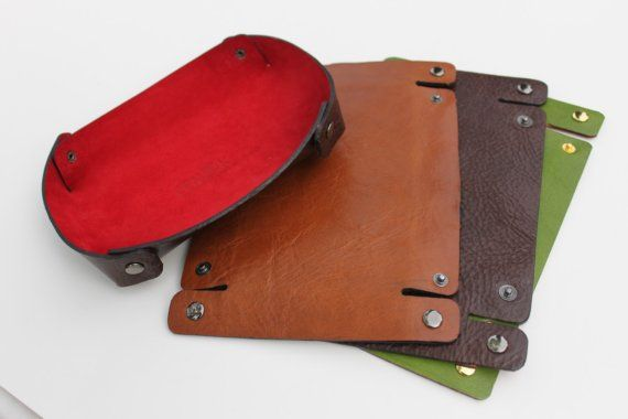 Travel Leather Tray  TRAVEL WITH STYLE by zenokleather on Etsy