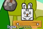 Juego de Magic Carrot | JUEGOS GRATIS: Lindo conejito que quiere comer muchas zanahorias, ayudarlo a comer lanzadolo hacia la comida, con el mouse mueve piezas para poder cumplir con el objetivo, ten cuidado ya que el tiempo te quitara varias estrellas de puntos