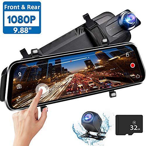 Directtyteam Mirror Dash Cam Backup Camera,1080P HD 9 88