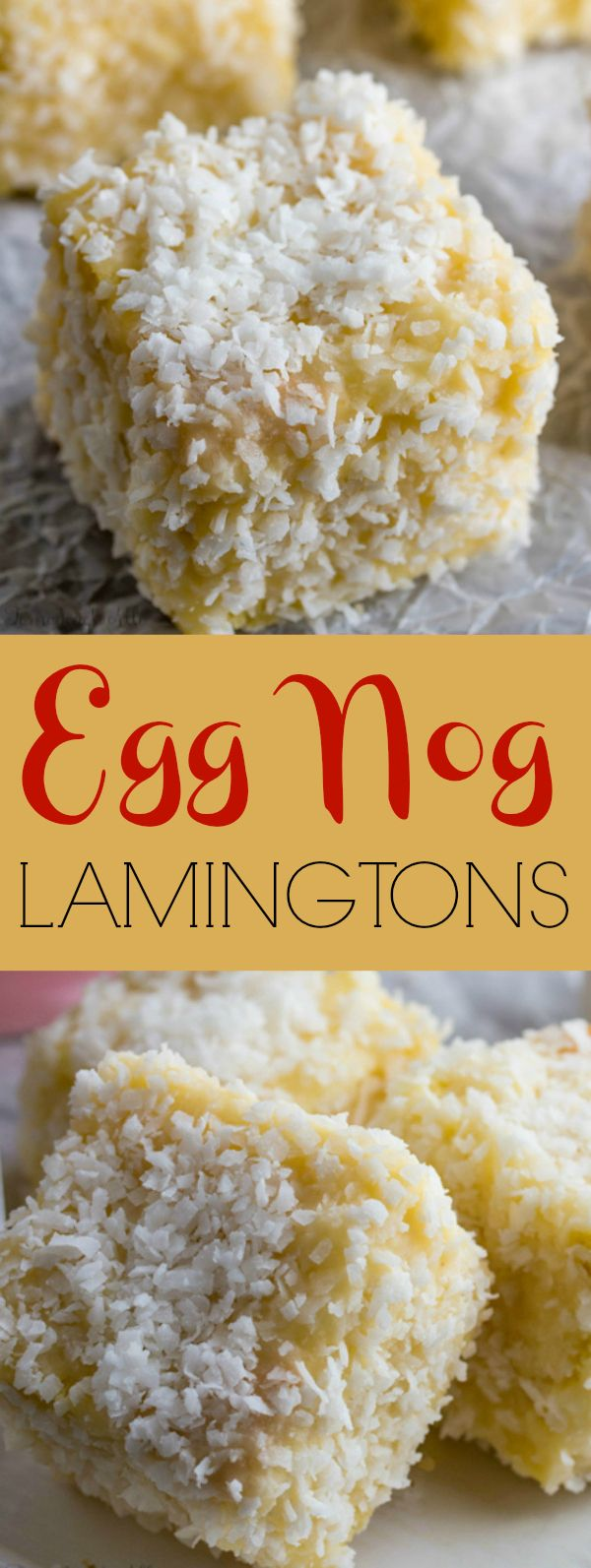 Egg Nog Lamingtons