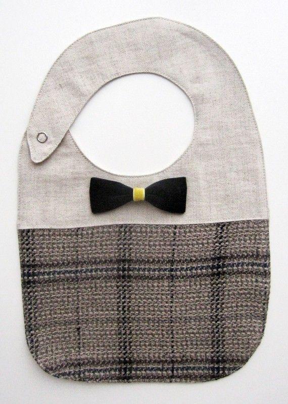 Bow Tie Bib tutorial DIY craft fabric project