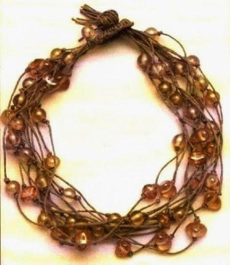 Collier multifili bijoux
