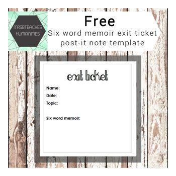 The 25+ best Exit ticket template ideas on Pinterest - printable blank tickets