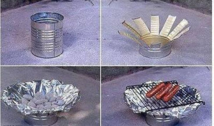 mini grill with your hands
