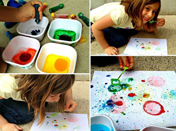How to Paint with Bubbles <--So, so very fun