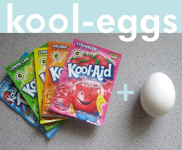 Dye easter eggs with kool aid