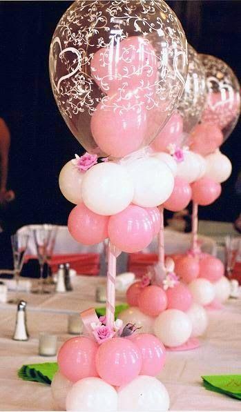 Homemade Wedding Centerpiece Ideas For the Budget Conscious Bride: Balloons. http://simpleweddingstuff.blogspot.com/2014/07/homemade-wedding-centerpiece-ideas-for.html