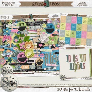 10 Questions 4 U Bundle #SusDesigns #DigiScrap #Scrapbook #ScrapsNPieces