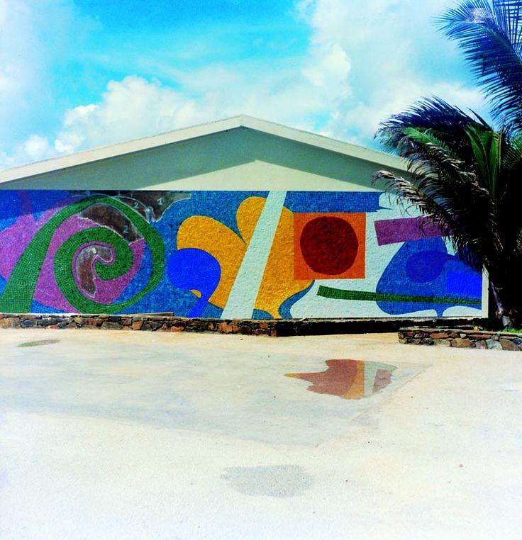Mosaic by Daniel Buren, June-November 1965 Made Grapetree Bay Hotel, USA