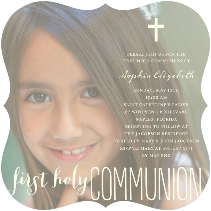 Melissa first communion invite