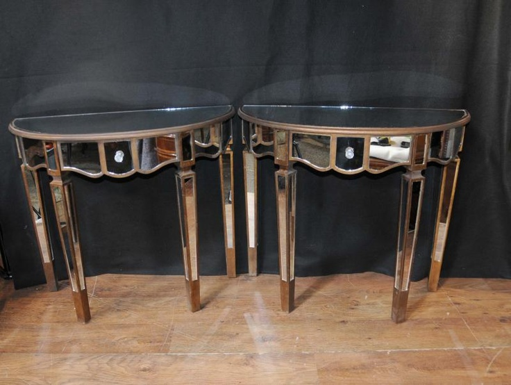 Pair Mirror Console Tables Mirrored Hall Tables Deco Furniture | Console  Table | Pinterest | Deco Furniture, Table Mirror And Console Tables