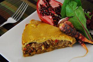 "Vegan Ricans: Vegan ""Pastelon"" Ripe Plantain Casserole w/ soy meat"