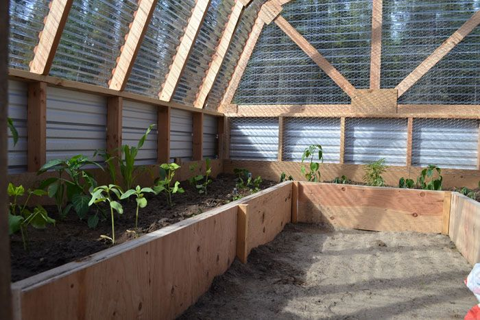 inside greenhouse plans