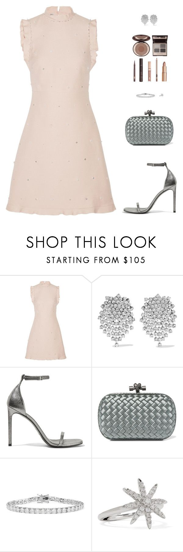 """Sin título #4903"" by mdmsb ❤ liked on Polyvore featuring Miu Miu, Kenneth Jay Lane, Yves Saint Laurent, Bottega Veneta and Charlotte Tilbury"