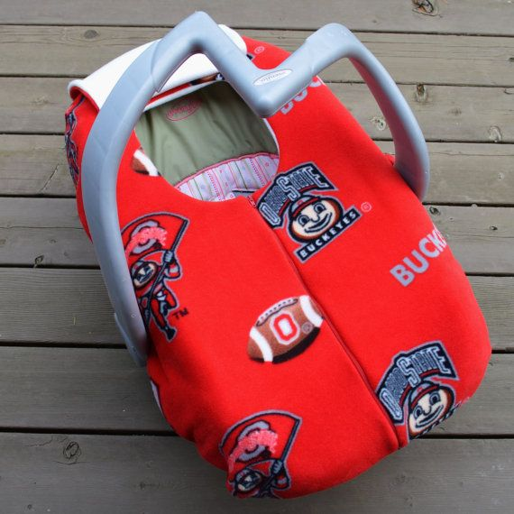 Buckeye Carseat Cover for Baby Ohio State Buckeyes by sophiemarie, $55.00