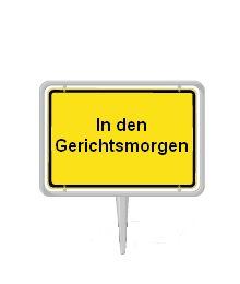 In den Gerichtsmorgen ist ein Stadtteil Bellheims, mit gerade mal 8500 Einwohnern. Ironie daran ist, dass es kein Amtsgericht dort gibt, sondern nur eine kleine Anwaltskanzlei.