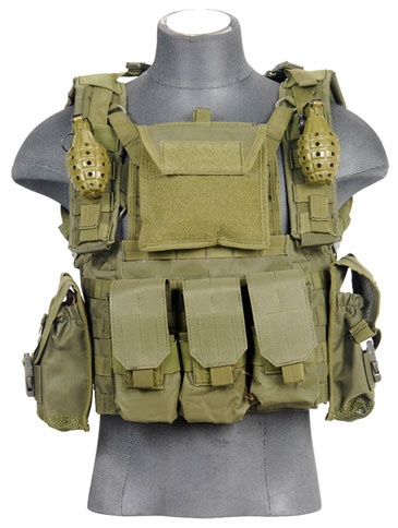 Lancer Tactical Airsoft Modular Chest Rig - OD
