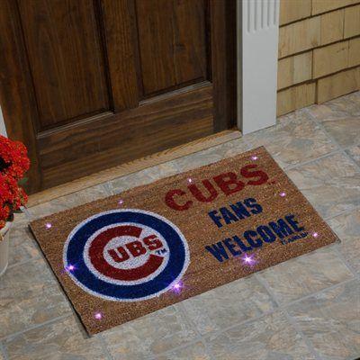 Chicago Cubs Lighted Coir Mat - Brown