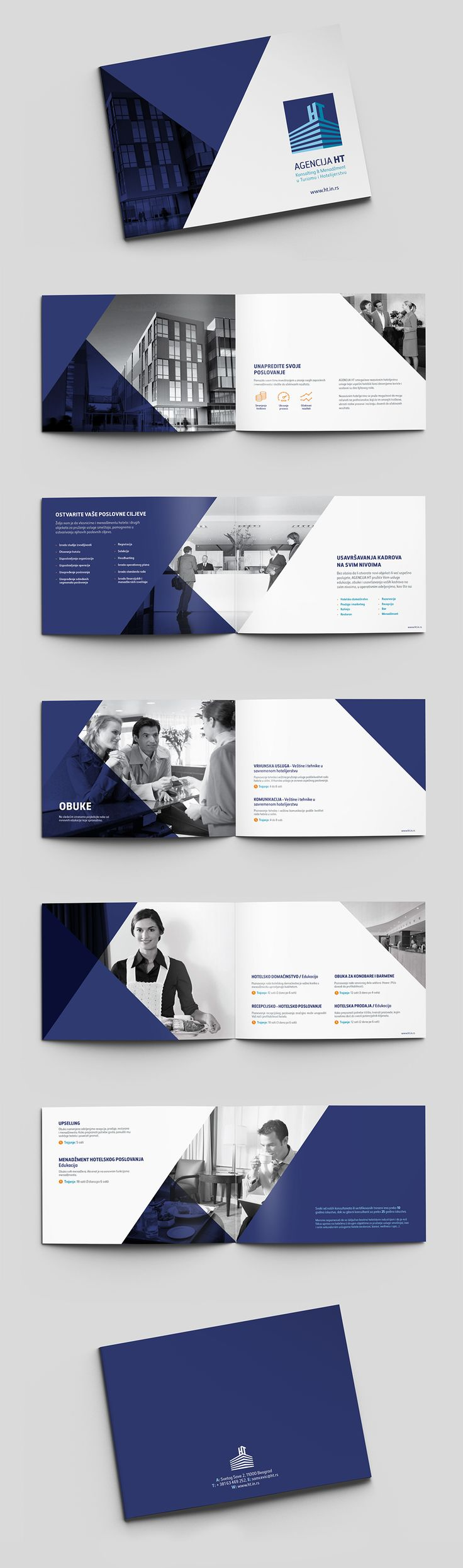 HT Agency Brochure. Design of all pages.