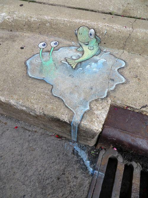 Best Street ArtGraffiti Images On Pinterest Street Art - David zinns 3d chalk art adorably creative