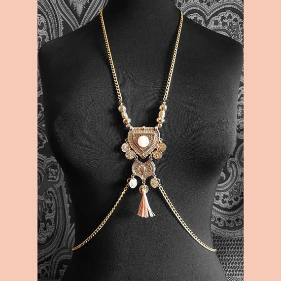 Check out this item in my Etsy shop https://www.etsy.com/uk/listing/528015739/peach-gold-necklace-belly-chain-necklace