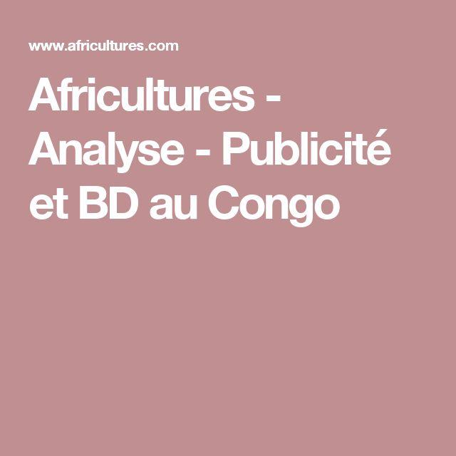 Africultures - Analyse - Publicité et BD au Congo